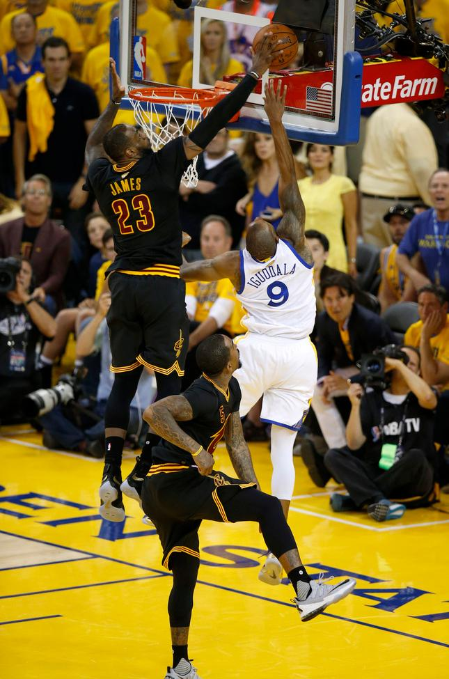 Oral history of LeBrons Block Warriors Cavaliers others chop it up  The Mercury News