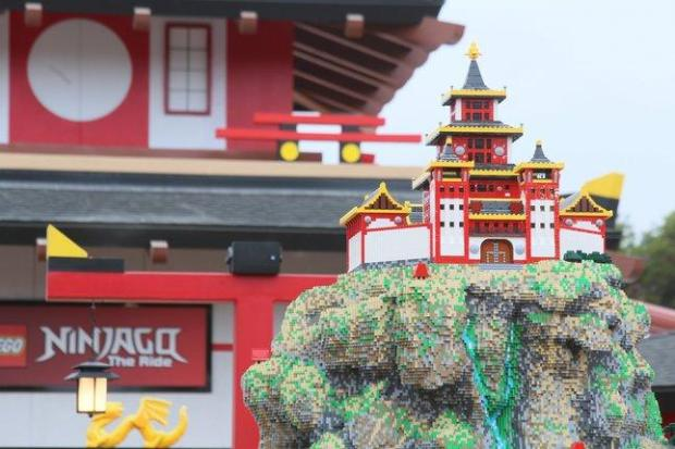 Legoland California's newest attraction is Ninjago, a 4-D dark ride that has visitors karate chopping, fireball hurling and channeling their inner ninjas. (Photo: Legoland California)
