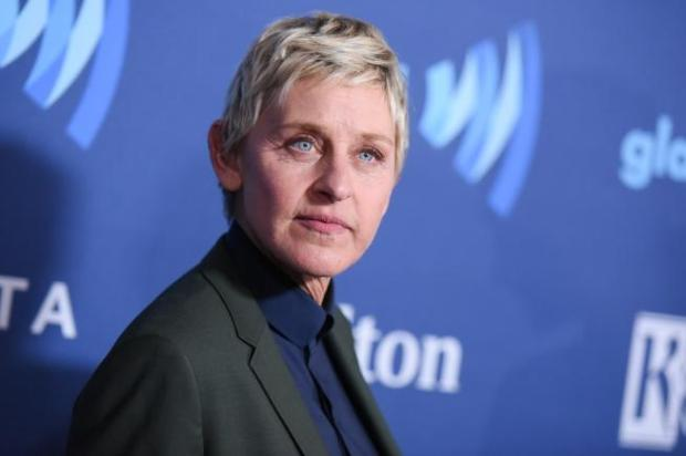 """FILE - In this March 21, 2015, file photo, Ellen DeGeneres arrives at the 26th Annual GLAAD Media Awards held at the Beverly Hilton Hotel, in Beverly Hills, Calif. DeGeneres says she's not racist after receiving backlash on social media for posting an edited photo of herself riding on the back of Jamaican runner Usain Bolt. The talk show host said Tuesday, Aug. 16, 2016, on Twitter that she's """"highly aware of the racism that exists in our country"""" but that's """"the furthest thing from who I am."""" (Photo by Richard Shotwell/Invision/AP, File)"""