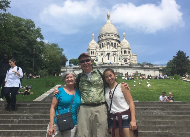 San Jose residents Donna and Bruce Prime and their granddaughter, Kaelan of Los Alamos, New Mexico, are just back from a French jaunt.
