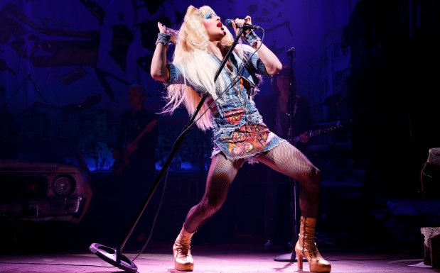 """JOAN MARCUS/SHN Bay Area native Darren Criss performs in """"Hedwig and the Angry Inch,"""" the rock musical that will bring him back to the Bay Area for a run at the Orpheum Theatre in San Francisco."""