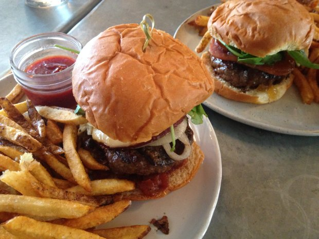 The new Street Burger in Lihue offers big, sumptuous burgers with craft beer, cider and wines by the glass. (Photo: Jackie Burrell/Bay Area News Group)