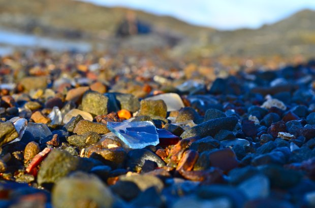 Mendocino's Glass Beach began life as a dumping ground, but over the years,the sea pummeled the broken glass and debris, smoothing the edges and creating this landscape of sea glass-strewn sand. (Photo: VisitMendocino)