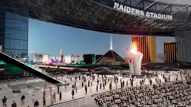 Artist rendering of a new Las Vegas Raiders stadium. (Courtesy of Manica Architecture)