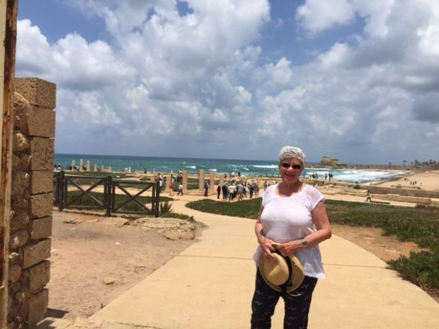 """While visiting Israel, Sandi Dolmatch of Saratoga enjoyed a day trip to Caesarea Maritima, """"built by Herod the Great as a port in honor of Roman Emperor Caesar Augustus in 22 BCE,"""" she says. (Courtesy of Sandi Dolmatch)"""
