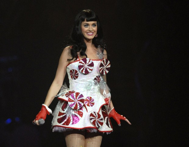 Katy Perry performs at the HP Pavilion in San Jose, Calif. on Friday, August 12, 2011. (Dan Honda/Staff)