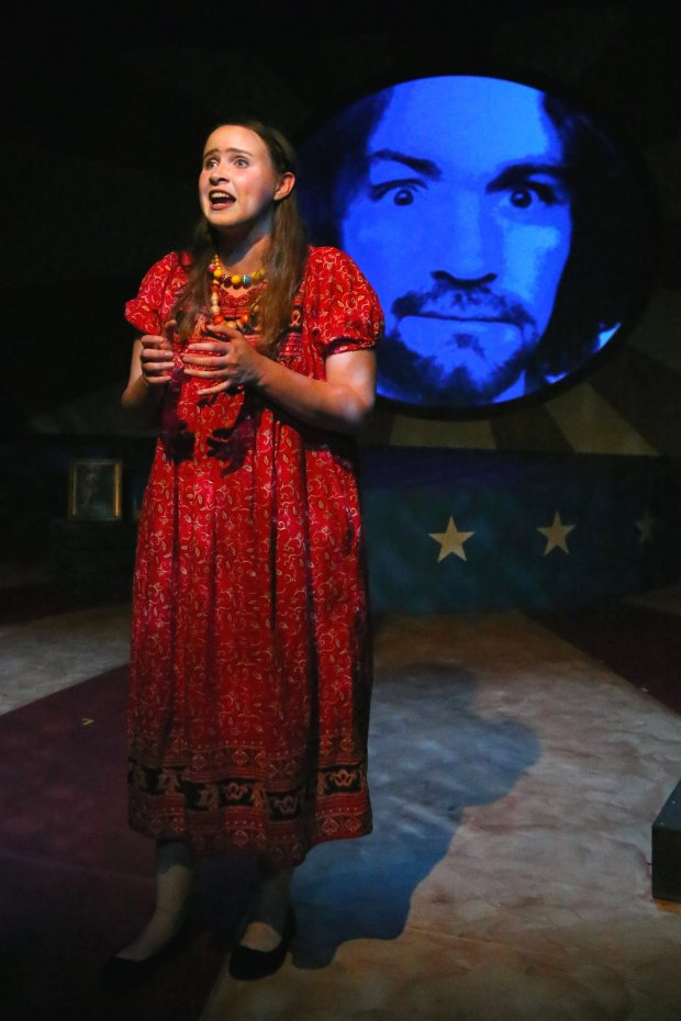 """Richard Mayer / Los Altos Stage Company Alea Selburn as Lynette """"Squeaky"""" Fromme in """"Assassins,"""" running through Sept. 25, 2016, at Los Altos Stage Company."""