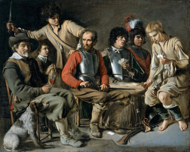 """Soldiers Playing Cards (A Quarrel),"" ca. 1640, is among some 40 works in the exhibition ""The Brothers Le Nain: Painters of 17th-Century France"" at San Francisco's Legion of Honor. (Photo by Amgueddfa Genedlaethol Cymru/National Gallery of Wales)"