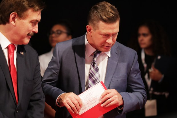 LAS VEGAS, NV - OCTOBER 19: Stephen Baldwin walks the floor prior to the start of the third U.S. presidential debate at the Thomas & Mack Center on October 19, 2016 in Las Vegas, Nevada. Tonight is the final debate ahead of Election Day on November 8. (Photo by Chip Somodevilla/Getty Images)