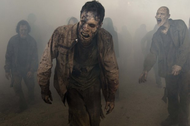 """The Walking Dead,"" which recently launched its seventh season, alwaysmakes for a good Halloween-night viewing option. AMC"