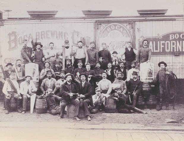 Lake Tahoe's Boca Brewing brewed the state's first lager in the 19th century. Today, that legacy lives on, thanks to Anchor Brewing. (Truckee Donner Historical Society)