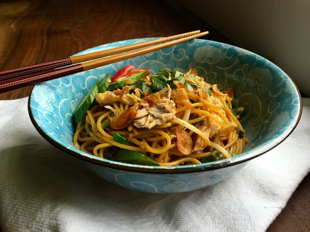Turn leftover rotisserie chicken into a flavorful sweet-sour stir-fry thenext day with this easy recipe. (Photo: A Little Yumminess)