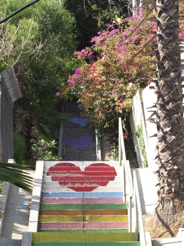 Los Angeles is filled with hidden stairways and colorful steps, including the famous Micheltorena Stairs. (Photo courtesy of Alison Shore)