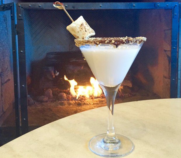 The Ritz-Carlton, Lake Tahoe's signature S'moretini cocktail, is perfect for fireside sipping. Photo credit: Courtesy of The Ritz-Carlton, Lake Tahoe
