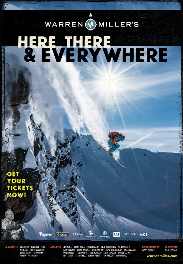 "The 67th annual Warren Miller snowboarding and skiing film, ""Here There & Everywhere,"" will screen at theaters across the Bay Area in November. (Warren Miller Entertainment)"