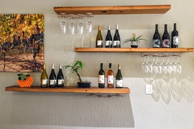 The minimalist Ser Wines and Silvertip Vineyards joint Saratoga wine tasting room. Photo credit: Mary Orlin/Staff