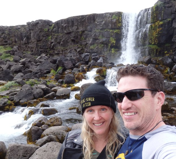*ICELAND:* Paulette and Brent Wilkinson, of Campbell, recently visited Germany, Luxembourg and Iceland, where their travels included a stop at Oxararfoss Falls, Thingvellir National Park, pictured. (Courtesy of the Wilkinson Family)