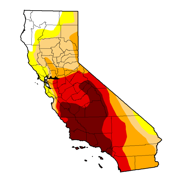 61 percent of California remains in severe drought, according to the U.S. Drought Monitor.