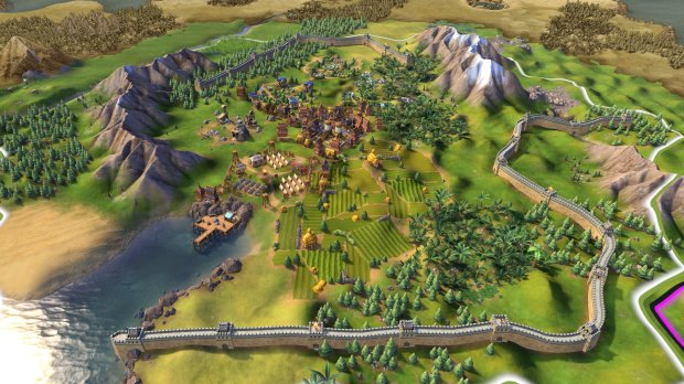 """""""Sid Meier's Civilization VI"""" changes up the formula by unstacking cities and giving each nation individual structures. China is the only civilization that can build the Great Wall."""