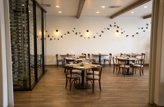 The dining room at Adega restaurant photographed in San Jose, Calif., Tuesday, Oct. 25, 2016. The Portuguese cuisine restaurant has been awarded a prestigious Michelin star. (Patrick Tehan/Bay Area News Group)