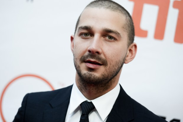 "FILE - In this Sept. 15, 2015 file photo, actor Shia LaBeouf attends a premiere for ""Man Down"" on day 6 of the Toronto International Film Festival at Roy Thomson Hall in Toronto. LaBeouf invited his fans to watch all the movies he�s ever made with him during a three-day (and two-night) marathon at a Manhattan theater. LaBoeuf basically took over the theater but wasn�t speaking to his fans, according to people coming out.  (Photo by Richard Shotwell/Invision/AP, File)"