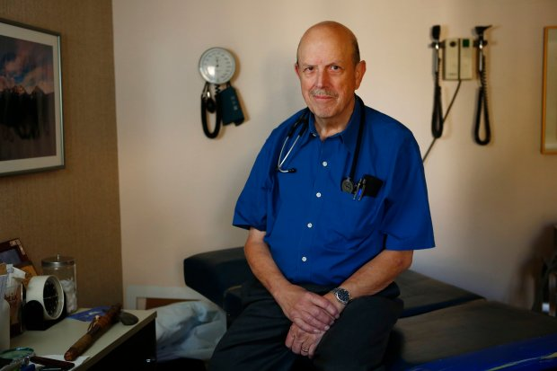 Dr. Jerry Callaway is photographed in his examination room in San Jose, Calif., on Wednesday, Oct. 26, 2016. Dr. Callaway treats drug addiction, and has seen a rise in the THC content of marijuana. (Gary Reyes/Bay Area News Group)
