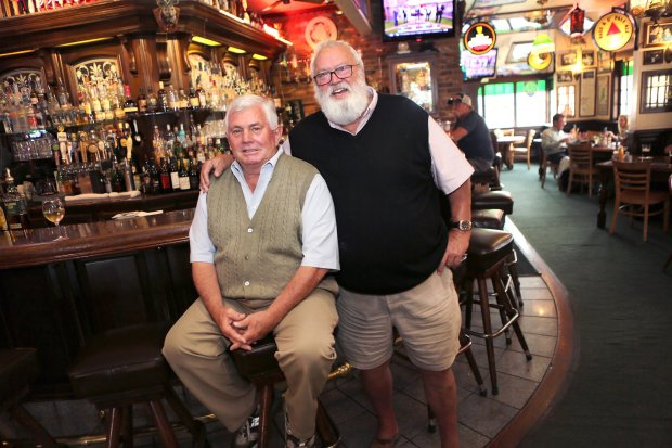 Photograph by George SakkestadThe Los Gatos Chamber of Commerce will honor Johnny Hannegan, left, and Chris Benson, owners of CB Hannegan's, as the 2016 Business Persons of the Year when it holds its annual dinner and award celebration on Oct. 26 at La Rinconada Country Club. The Butter Paddle will be recognized as the Social Benefit Organization of the Year, and the winner of the Business of the Year award will also he announced that night.