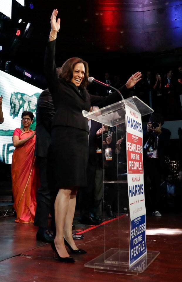 US Senate Race Californias Kamala Harris Handily Beats