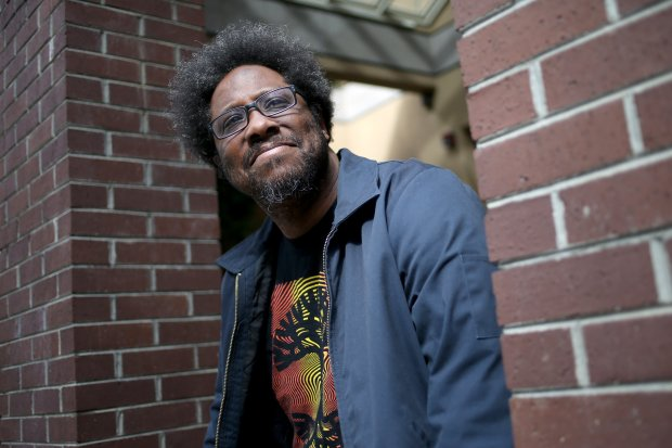 W. Kamau Bell, of Berkeley, poses for a photograph in Berkeley, Calif., on Friday, March 18, 2016. Bell, an East Bay comedian known for his social commentary, has a new TV show premiering soon on CNN. (Anda Chu/Bay Area News Group)