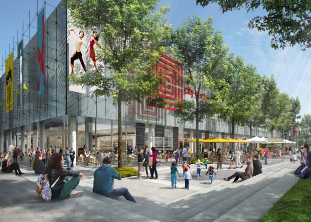 An artist's rendering of the San Ramon City Center's Sunset Terrace.    (Courtesy of Sunset Development)