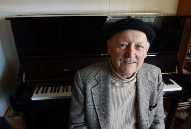 Jazz pianist Larry Vukovich, 79, an amiable entertainer who gladly performs in major concert halls or small venues, takes time out to be photographed at home in Calistoga, Calif., on Thursday, March 10, 2016. Vuckovich will play at his 80th Birthday Bash featuring Bay Area All-Stars celebrating his associations with Jon Hendricks, Dexter Gordon, Mel Torme & Vince Guaraldi at the Bach Dancing & Dynamite Society in Half Moon Bay. (Susan Tripp Pollard/Bay Area News Group)