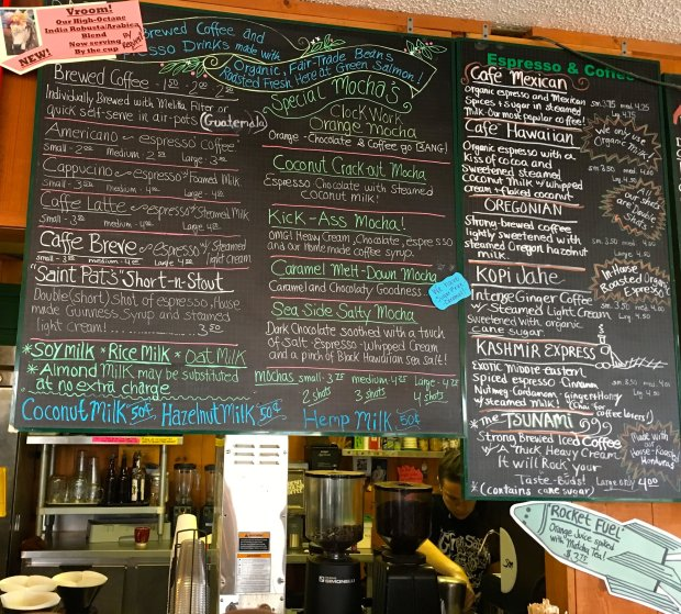 The Green Salmon coffee shop is a popular breakfast spot in Yachats, Oregon. (Lisa Wrenn/Bay Area News Group).