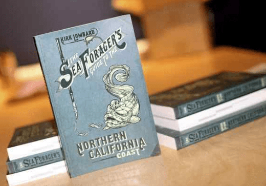 "Copies of Kirk Lombard's ""The Sea Forager's Guide to the Northern California Coast"" sit on display at the Santa Cruz Natural History Museum on Thursday. (Kevin Johnson -- Santa Cruz Sentinel)"