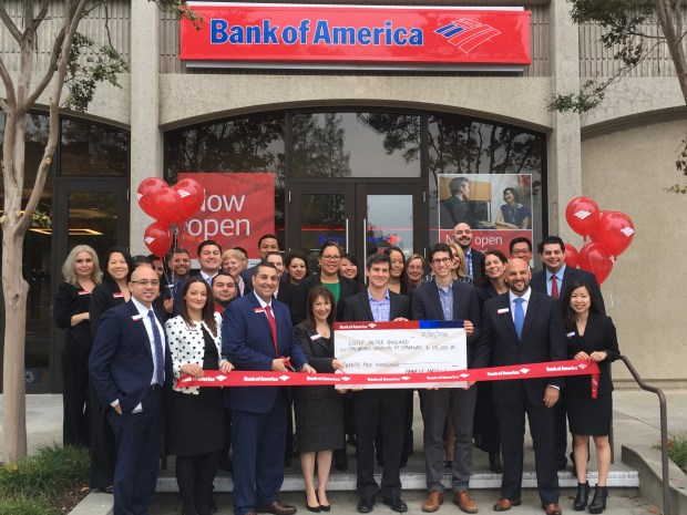 Bank of America celebrated on Wednesday, Nov. 30, its grand opening of a newly renovated Stanford financial center at 3000 El Camino Real in Palo Alto. (Provided photo)