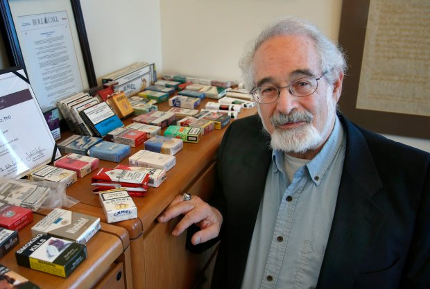 Dr. Stanton Glantz, director of the Center for Tobacco Control Research and Eduction, discusses Propostion 64, the California Marijuana Legalization Initiative, at his UCSF office Thursday, Nov. 3, 2016, in San Francisco, Calif. (Karl Mondon/Bay Area News Group)