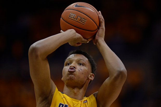 California Golden Bears' Ivan Rabb (1) shoots a free throw against the Arizona Wildcats in the second half of their game at Haas Pavilion in Berkeley, Calif., on Saturday, Jan. 23, 2016. Cal defeated Arizona 74-73. (Jose Carlos Fajardo/Bay Area News Group)