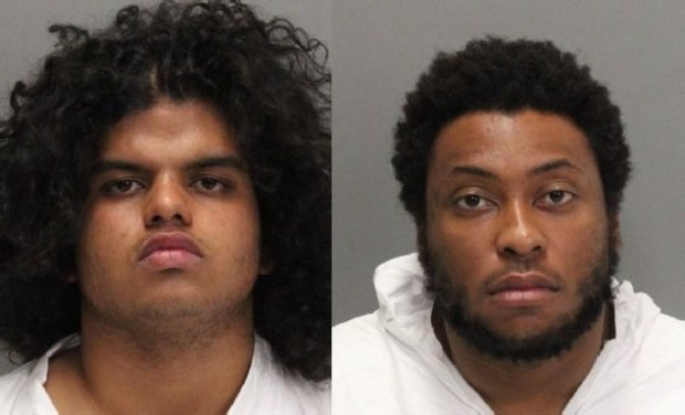 From left to right, Yasindu Desilva, 20, of Santa Clara, and Jack Atiba, 21, of Sunnyvale, were arrested Nov. 20, 2016 in connection with an armed home-invasion robbery in Cupertino.