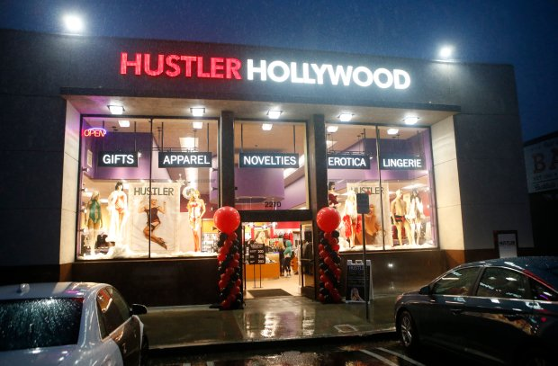 Larry Flynt, founder of Hustler magazine, appears at the opening of his new Hustler Hollywood store Saturday, Nov. 26, 2016, in San Jose, Calif. (Jim Gensheimer/Bay Area News Group)
