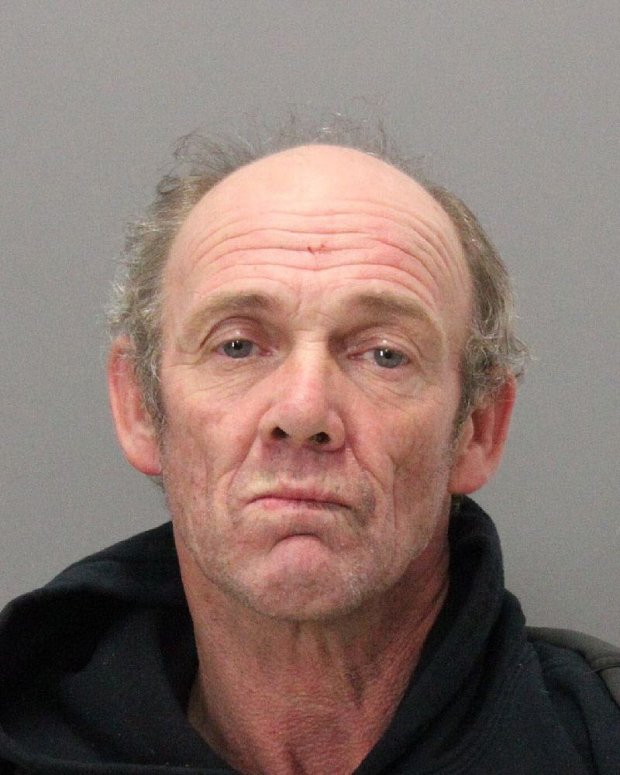 John Matthew Newell, 54, was arrested on suspicion of burglarizing a vacant commercial building on the 3200 block of Hanover Street in Palo Alto on Sunday, Oct. 30, 2016. (Courtesy of Palo Alto Police Department)