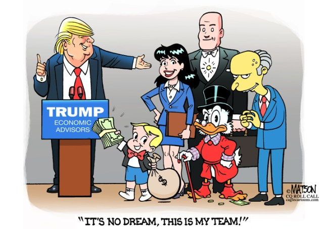 Image result for president and his economic advisers -- cartoons