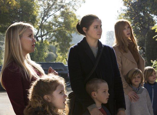 Reese Witherspoon, Darby Camp, Shailene Woodley, Iain Armitage, NicoleKidman, Cameron Crovetti, Nicolas Crovetti. photo: Hilary Bronwyn Gayle/courtesy of HBO