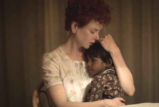"Nicole Kidman plays Sue Brierley, and Sunny Pawar plays the young Saroo in""Lion."" (Mark Rogers/Long Way Home Productions)"