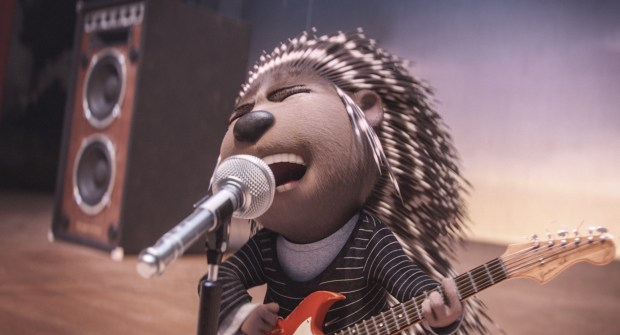 """This image released by Universal Pictures shows Ash, voiced by Scarlett Johansson, in a scene from """"Sing."""" (Illumination Entertainment/Universal Pictures via AP)"""