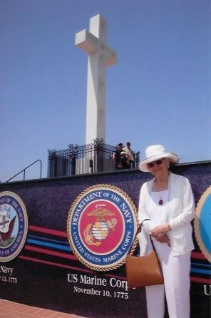 Courtesy of Patricia BoettcherSAN DIEGO: A visit to La Jolla's Mount Soledad National Veterans Memorial proved a serendipitous and comforting trek for San Jose resident Patricia Boettcher, whose husband, Woody, a former marine, died this summer.