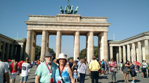 *GERMANY:* San Jose residents Carol and Harry Herndon recently spent two weeks in Europe on a trip that took them from Prague to Berlin, where they saw the famous Brandenburg gate and took in concerts by the Berlin Philharmonic. (Courtesy of the Herndon Family)