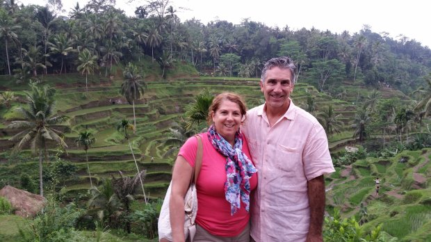 INDONESIA: Morgan Hill residents Janet and Brad Leach visited Bali inSeptember on a visit that included tours of the rice fields of Ubud. (Courtesy of the Leach Family)