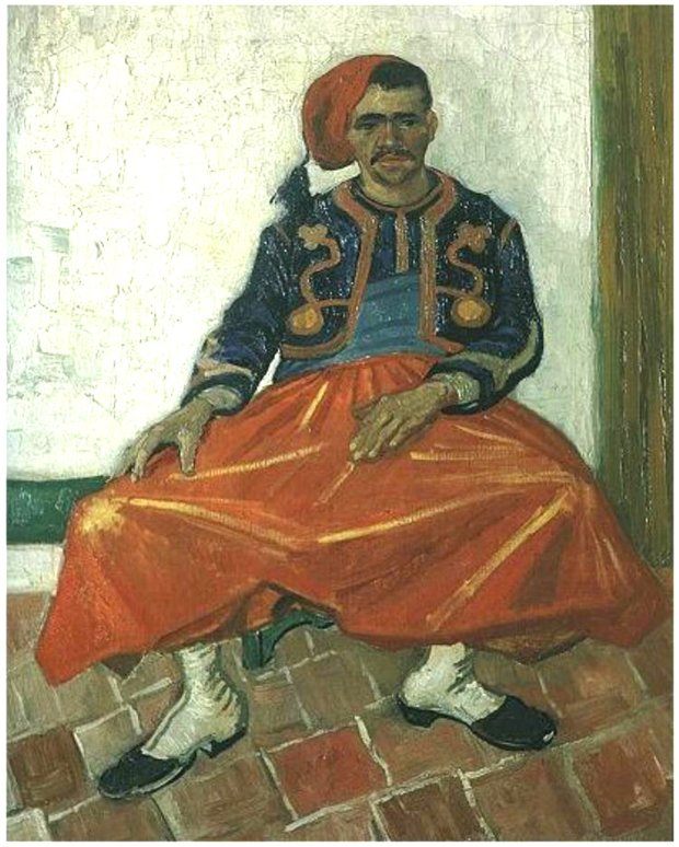 """Vincent Van Gogh's """"The Seated Zouave,"""" painted in 1888, has beenreproduced as a print or poster for decades. (Photo courtesy of Jane Alexiadis)"""