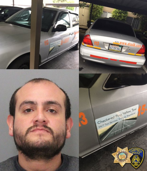 Julio Sanchez, a 30-year-old taxi driver from San Jose, was arrested Dec. 12 in Madera, Calif., on suspicion of raping two women, according to the Campbell Police Department. (Courtesy of the Campbell Police Department)