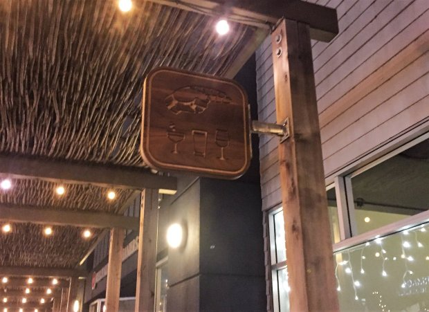 Honcho, which opened in December 2015, has a low-key sign above its door onFirst Street in Los Altos. (Sal Pizarro/Staff)