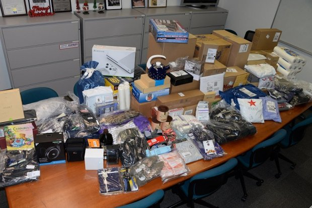 The Santa Clara County Sheriff's Office recovered several packages stolen from a UPS storage facility on Dec. 14 and returned the property to its rightful owners.
